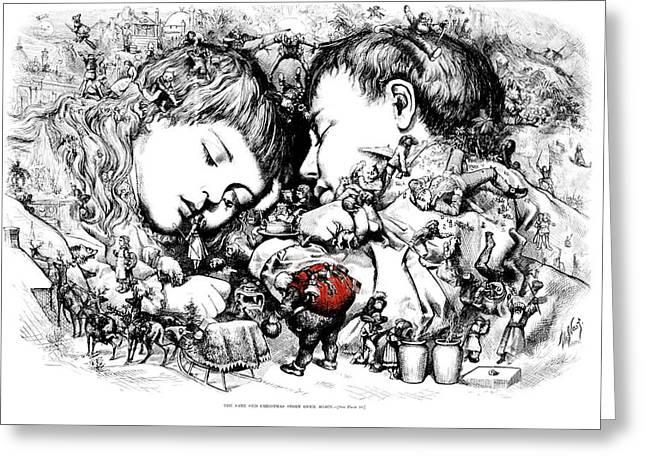 1890s Thomas Nast Illustration Of Saint Greeting Card