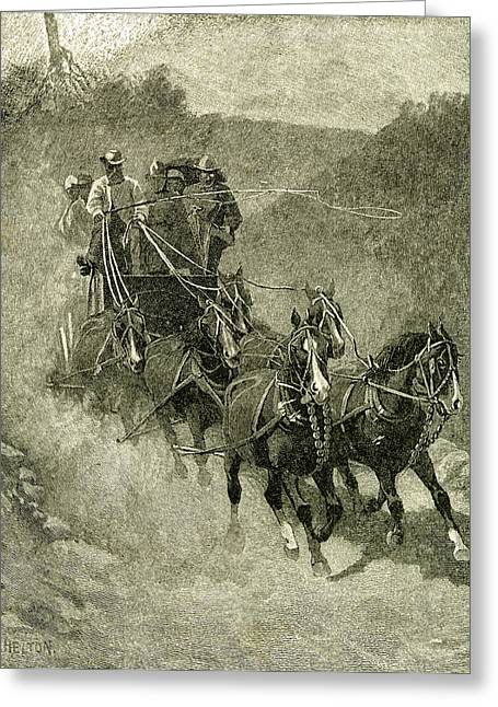 1891 Entering The Yosemite Valley Usa Greeting Card by English School