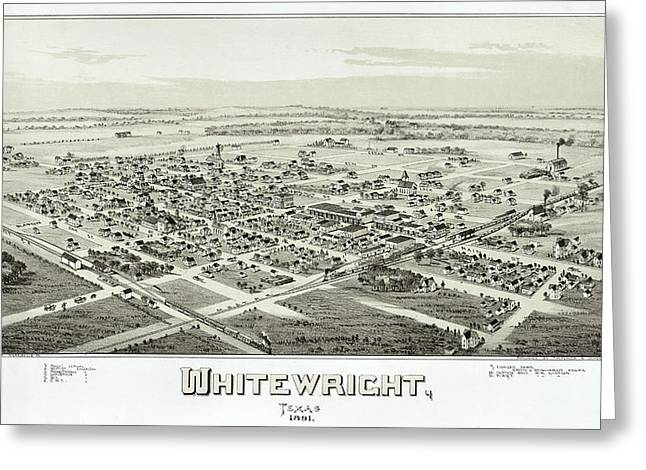 1891 Vintage Map Of Whitewright Texas Greeting Card by Stephen Stookey