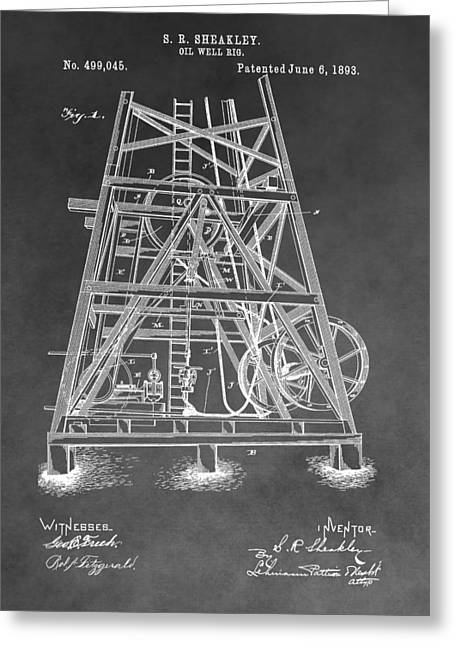 1893 Oil Rig Patent Greeting Card
