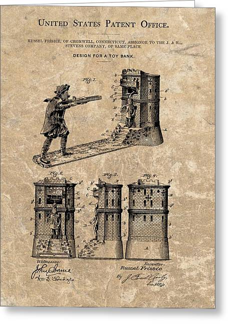 1896 Toy Bank Patent Greeting Card by Dan Sproul