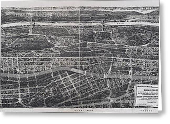 1897 Vintage Nyc Map Of The South Bronx Greeting Card by Stephen Stookey