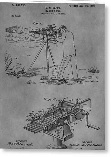 1899 Machine Gun Greeting Card