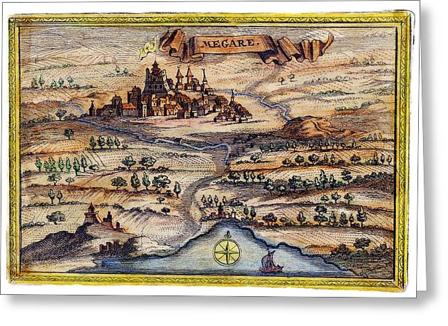 18th C. Megara Greece Greeting Card by Historic Image