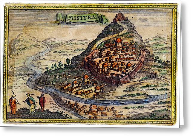 18th C. Mystras Greece Greeting Card by Historic Image
