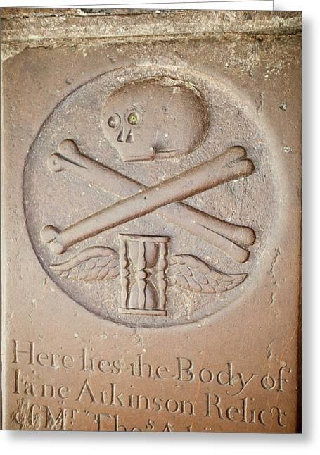 18th Century Gravestone Greeting Card
