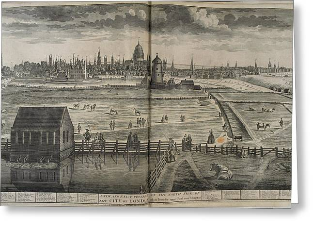 18th-century London Greeting Card by British Library