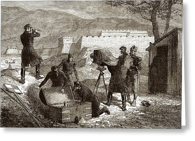 19 Century Military Photography Greeting Card by Sheila Terry