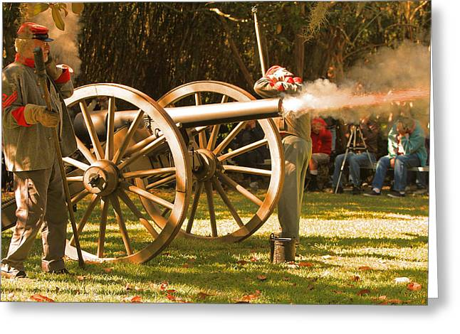 Cival War Reenactment At The Shadows On The Teche New Iberia Louisiana Greeting Card