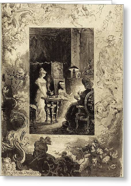 Félix-hilaire Buhot French, 1847 - 1898 Greeting Card