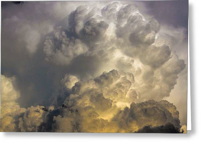 Late Afternoon Nebraska Thunderstorms Greeting Card