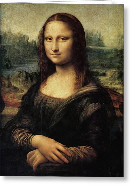 Mona Lisa Greeting Card by Celestial Images