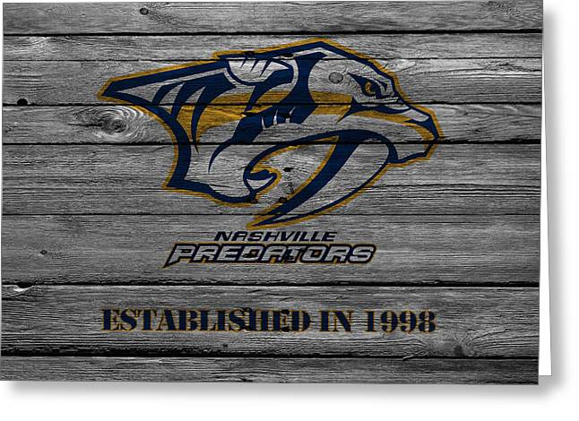 Nashville Predators Greeting Card