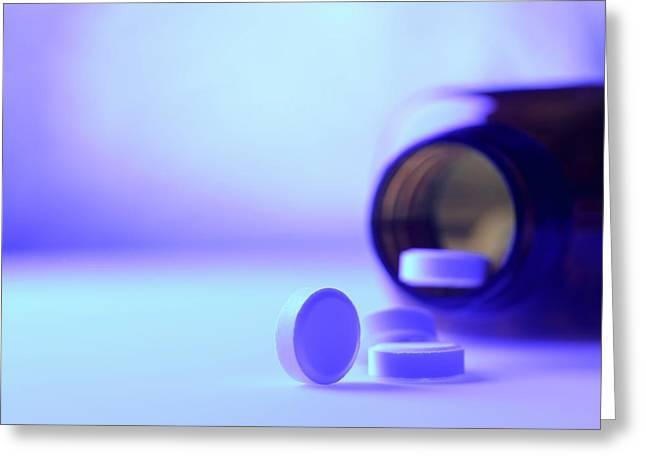 Pills Greeting Card by Tek Image