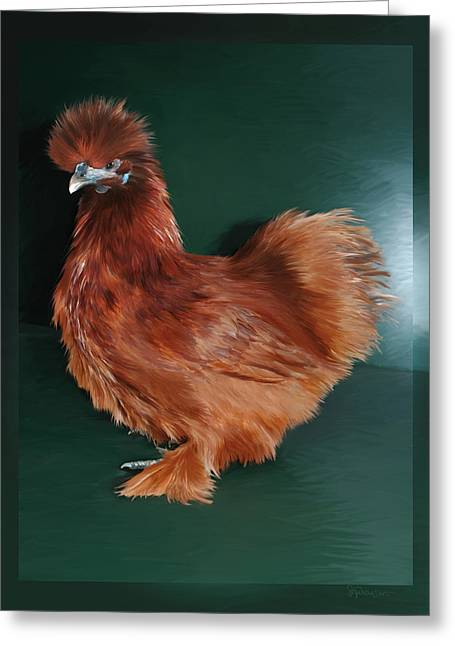 19. Red Silkie Hen Greeting Card