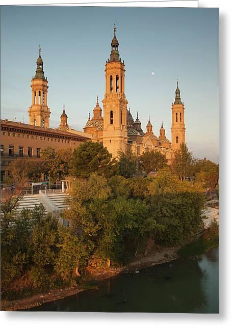 Spain, Aragon Region, Zaragoza Greeting Card by Walter Bibikow