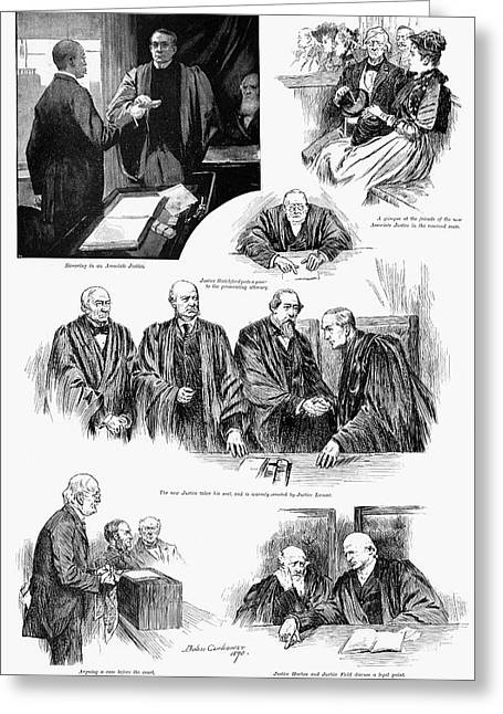 U.s. Supreme Court, 1891. Greeting Card by Granger