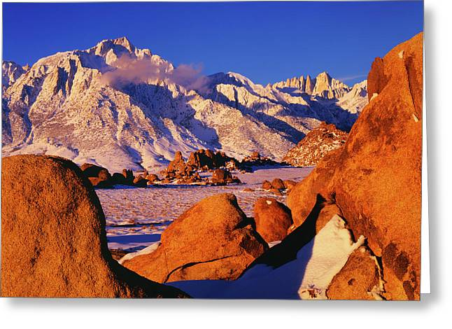 Usa, California, Sierra Nevada Mountains Greeting Card by Jaynes Gallery