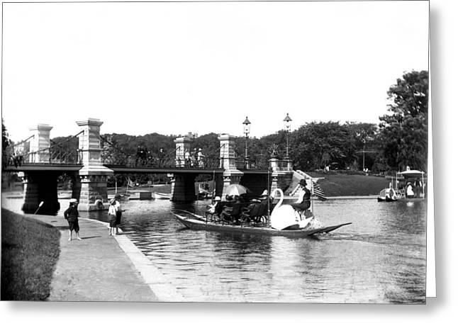 1900 Boston Swan Boats Greeting Card