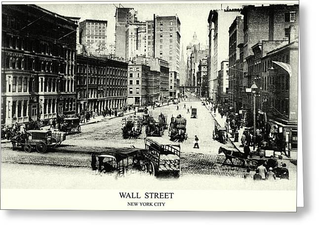 1900 Wall Street New York City Greeting Card