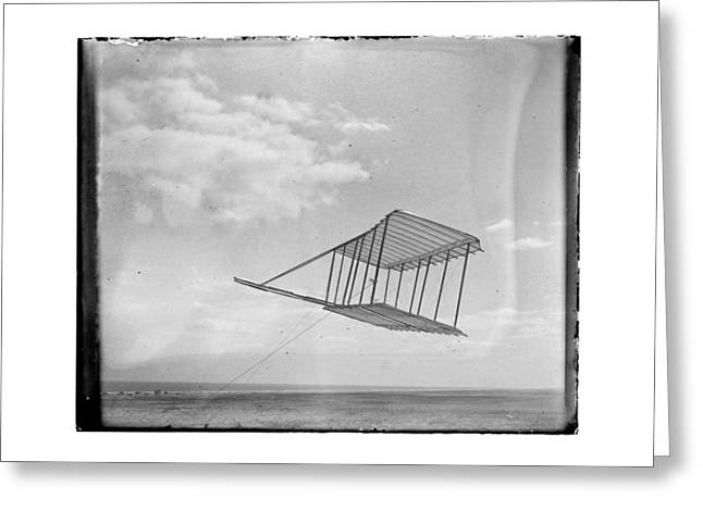 1900 Wright Brothers Glider Greeting Card by MMG Archives