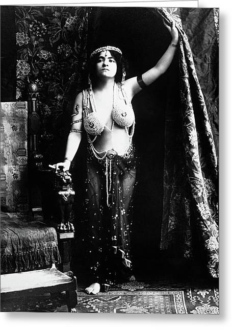 1900s 1910s Vamp Wearing A Pearl Greeting Card