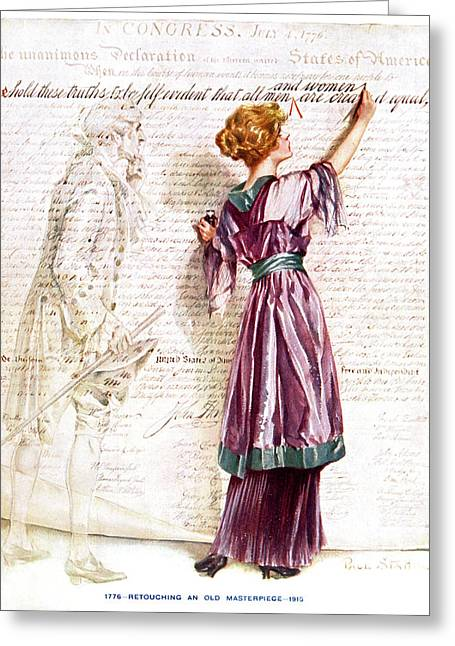 1900s 1915 Woman Suffragette Writing Greeting Card