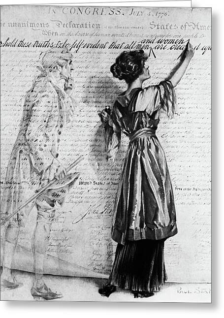 1900s Illustration Of Turn Of The 20th Greeting Card