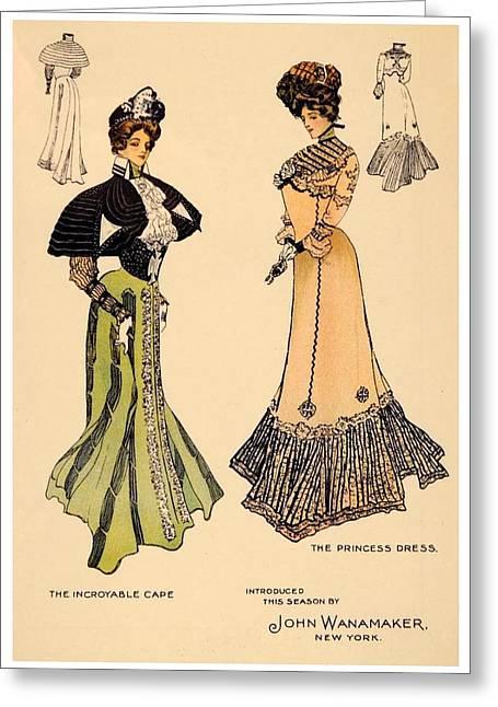 1901 - John Wanamaker Fashion Advertisement - Color Greeting Card