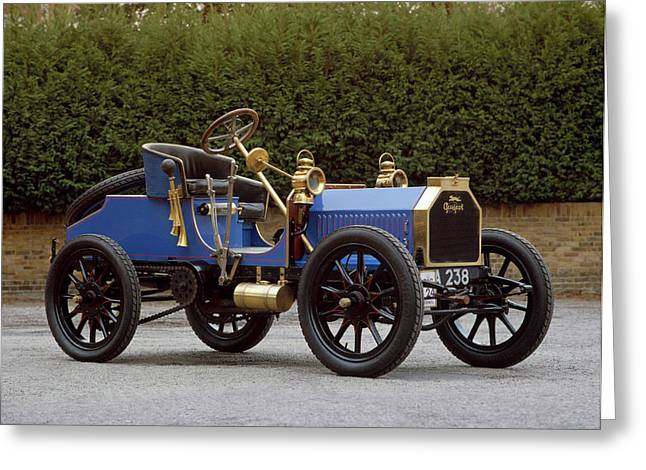 1901 Peugeot Paris Vienna 2-seater Type Greeting Card by Panoramic Images
