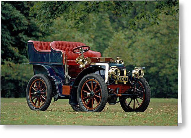1902 Panhard Et Levassor 7 Hp Rear Greeting Card by Panoramic Images