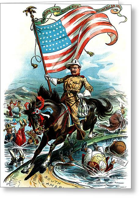 1902 Rough Rider Teddy Roosevelt Greeting Card by Historic Image
