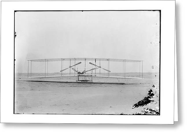 1902 Wright Brothers Airplane Greeting Card by MMG Archives