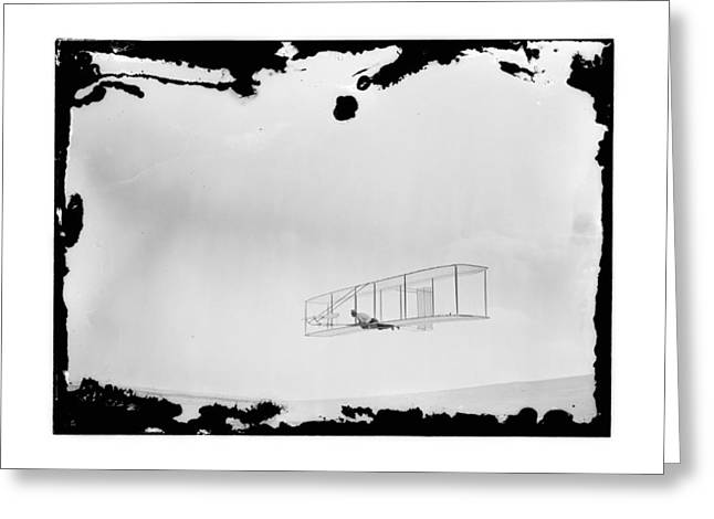 1902 Wright Brothers Double-rudder Glider Greeting Card by MMG Archives