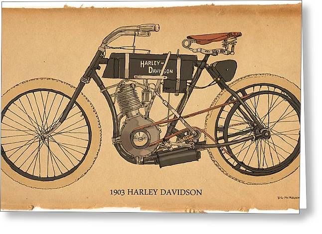 1903 Harley Davidson Greeting Card