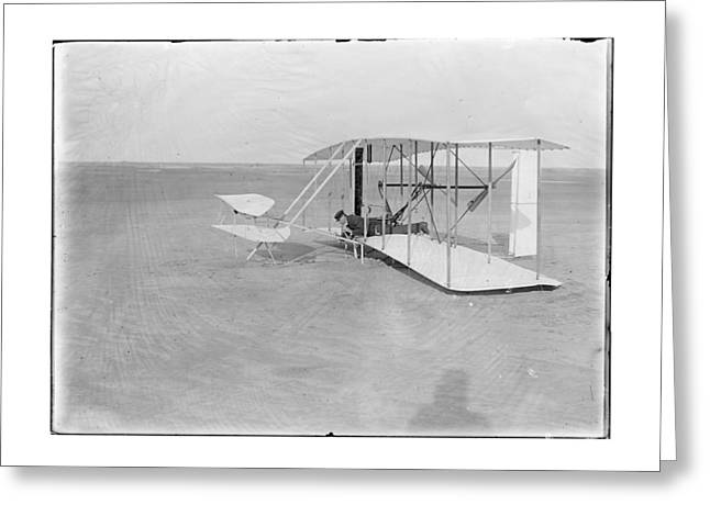 1903 Unsuccessful Flight By Wilbur Wright Greeting Card by MMG Archives