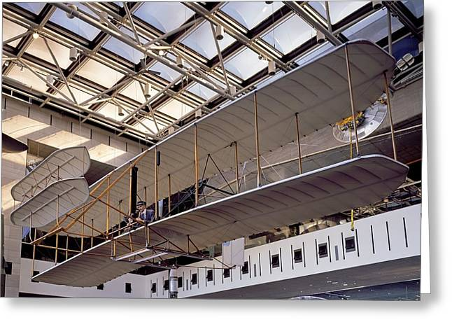 1903 Wright Flyer, Museum Display Greeting Card by Science Photo Library