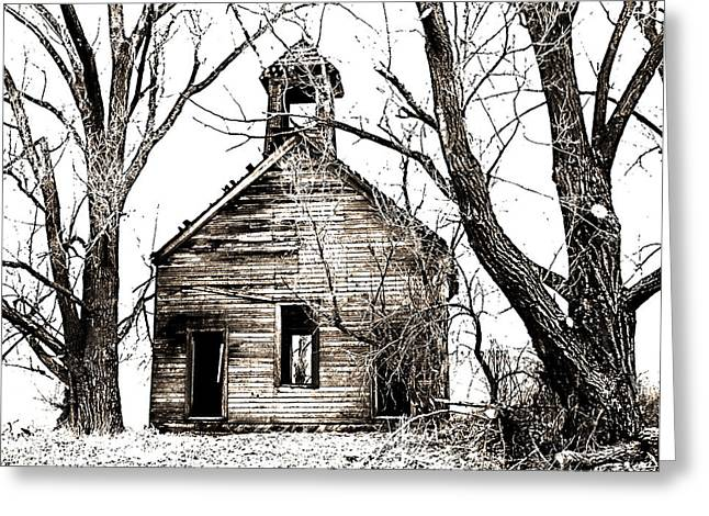 1904 School House Memory Greeting Card by Sonya Lang
