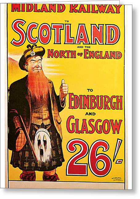 1904 Scotland - Vintage Travel Art Greeting Card by Presented By American Classic Art