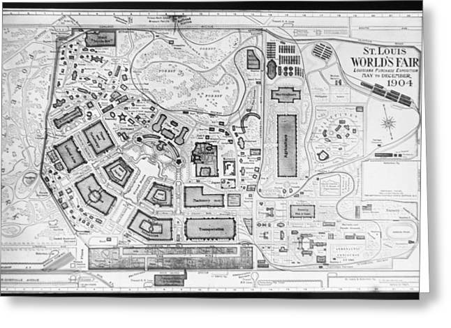1904 Worlds Fair Fair Grounds Map Greeting Card