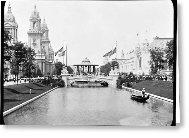 1904 Worlds Fair Lagoon And Electricity Building Greeting Card