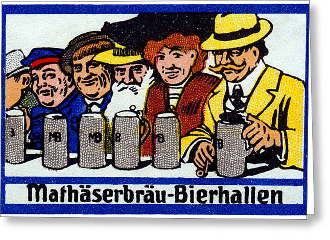 1905 Berlin Beer Hall Greeting Card by Historic Image