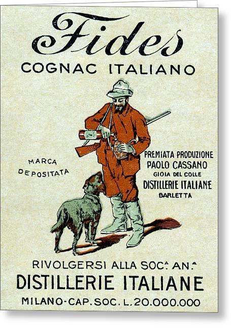 1905 Fides Italian Cognac Greeting Card