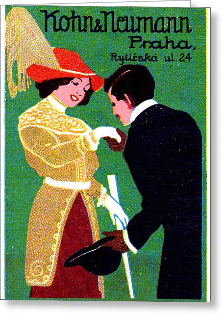 1905 Prague Fashion Poster Greeting Card by Historic Image
