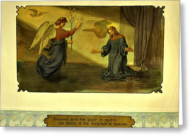 1906 Fresco Painting - Blessed Are The Poor In Spirit Greeting Card by Image Takers Photography LLC - Laura Morgan