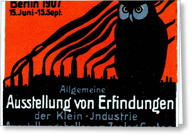 1907 Berlin Exposition Poster Greeting Card by Historic Image