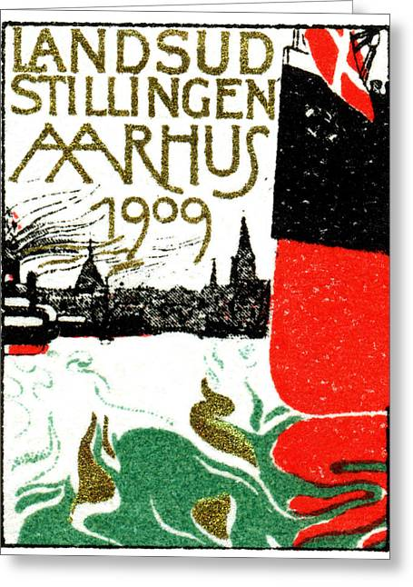 1909 Arhus Denmark Expo Poster Greeting Card by Historic Image