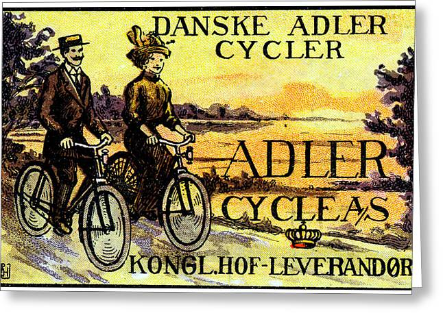 1910 Adler Bicycles Greeting Card by Historic Image