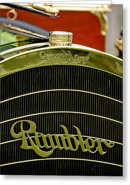 1910 Rambler Model 54 5 Passenger Touring Hood Ornament Greeting Card