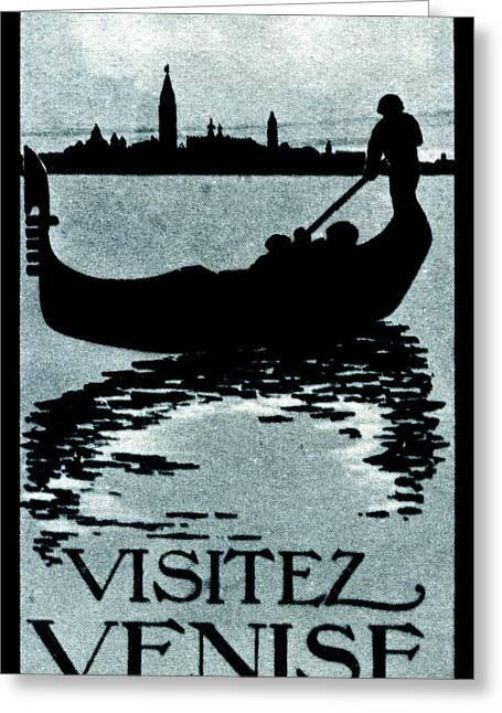 1910 Visit Venice Poster Greeting Card by Historic Image